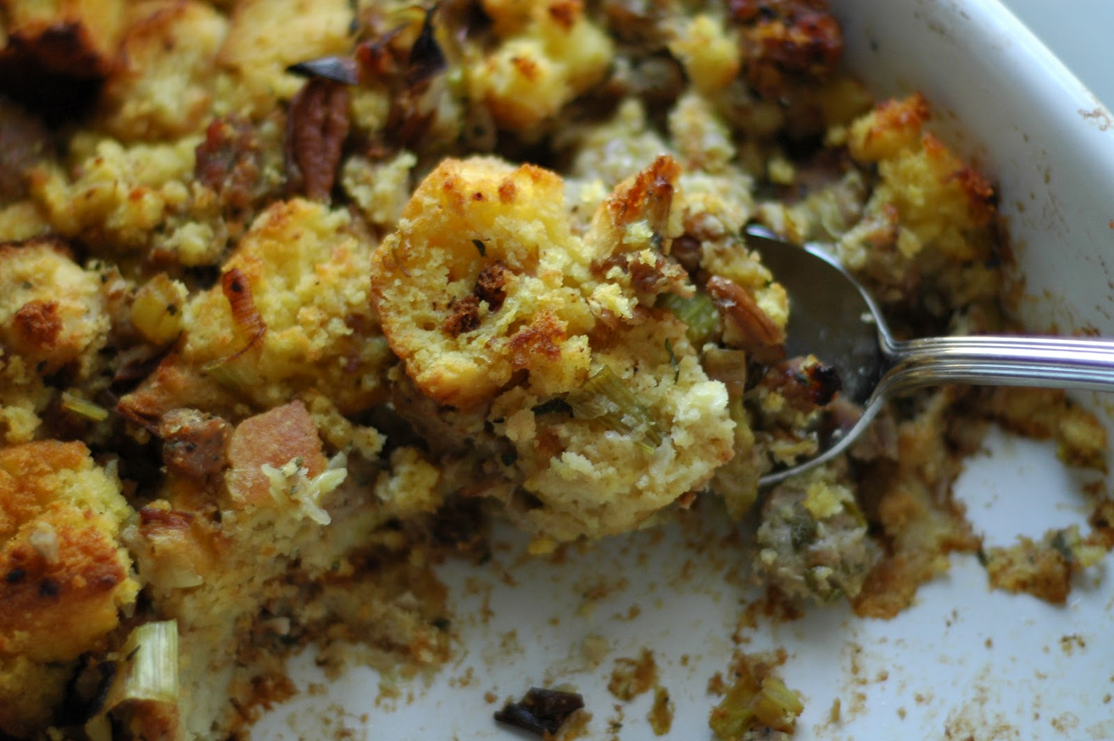 Cornbread Sausage Stuffing | Cafe Johnsonia