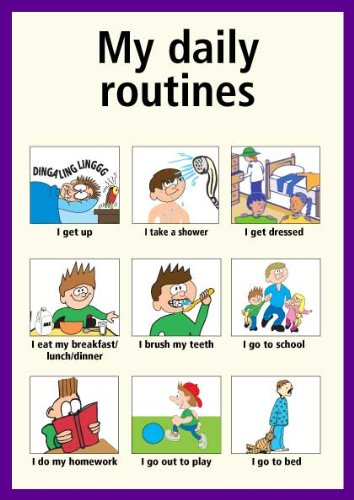 worksheet 1 my routine worksheet 2