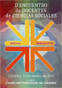 Cartel II Encuentro de Docentes de CC.SS.