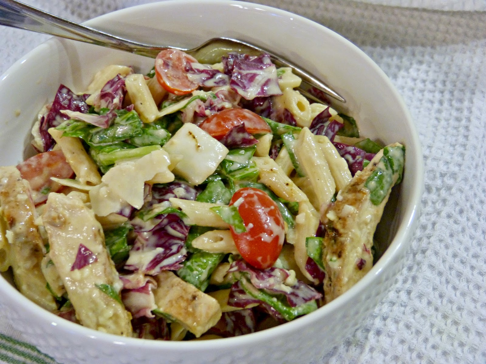 A Squared Whats For Dinner Wednesday Chicken Caesar Pasta Salad