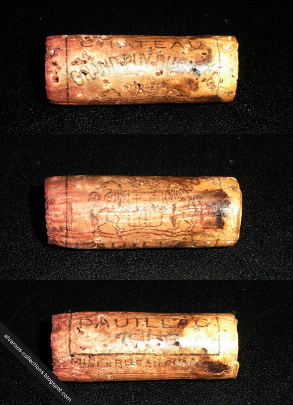 Destroyed wine cork: Cateau Grand Puy Ducasse (Pauillac) 1988