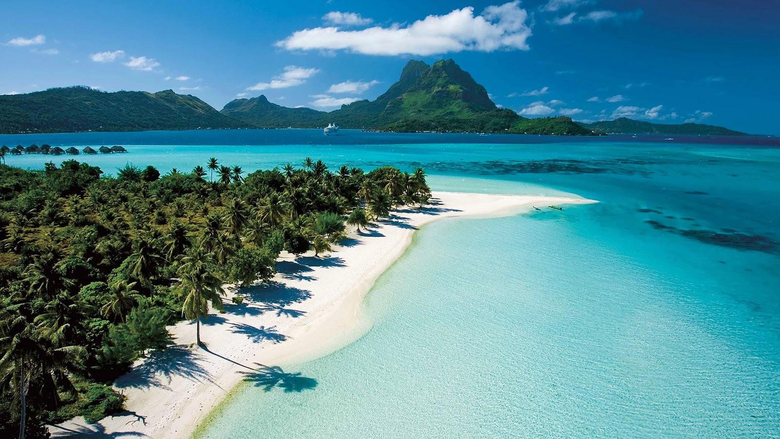 Tahiti - French Polynesia blue water