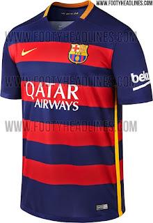 jual online Jersey Barcelona home terbaru musim depan 2015/2016