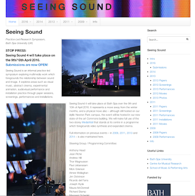 CALL FOR WORKS/PAPERS - Seeing Sound 4 - April 9th-10th 2016