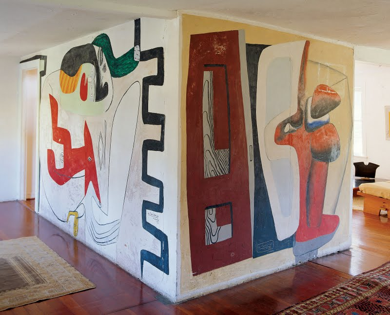Braxton and yancey supergraphics using large scale graphic design in home - Decoration le corbusier ...