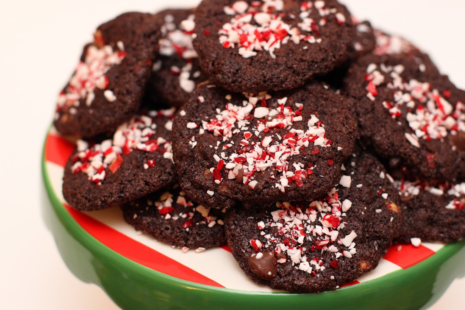 Double Chocolate Peppermint Crunch Cookies | chicago ...