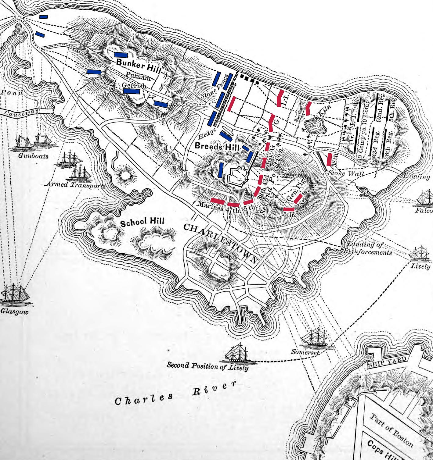 Battle Maps Battle Of Bunker Hill