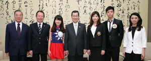 三冠王佳績,蕭副總統萬長先生接見