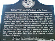 ANDALUSIA FARM, Home of book writer Flannery O'Conner, (andalusia farm home of book writer flannery o'conner history marker milledgeville georgia baldwin county ga)