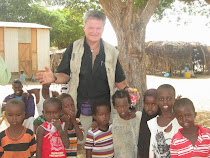 Me with children of Bagao, Somaliland desert (who had never before seen a white man)