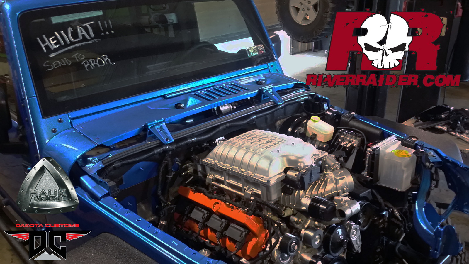 Dodge V8 Engines Crazy Hellcat-Powered Jeep Wrangler Answers A Question We Always ...