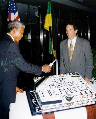 75th Birthday Cake of Nelson Mandela