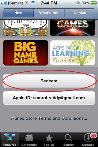 To redeem Free iTunes Redeem Codes on iPhone, iPad, or iPod touch 03