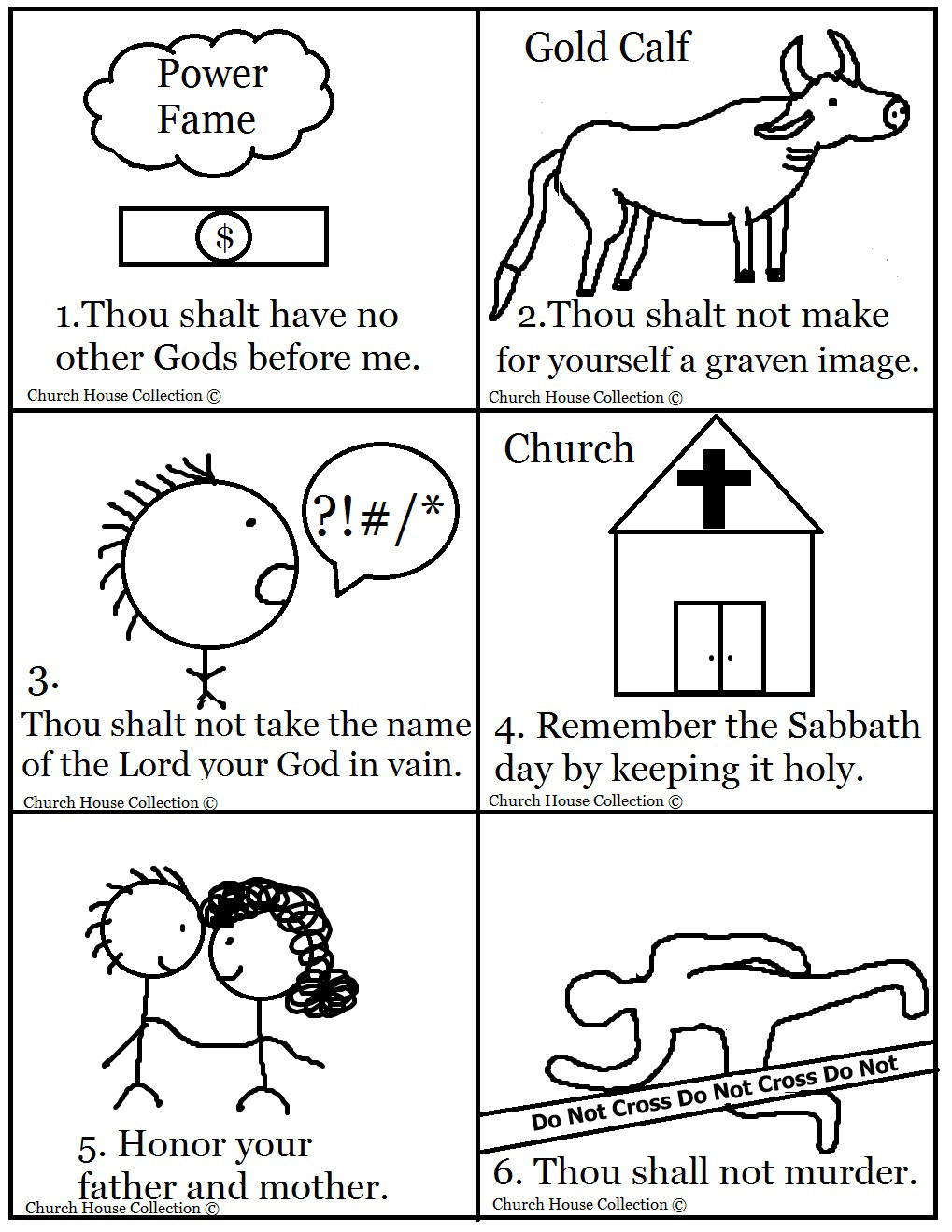 bible 10 commandments games mazes