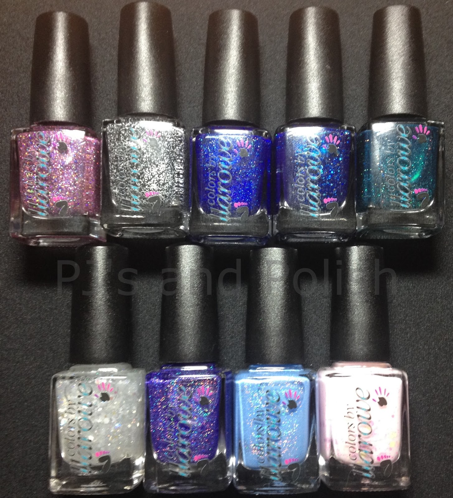 Colors by Llarowe (CbL) Summer 2014 Glitters Beautiful Disaster I'm Seeing Spots Independence Day My Own Reality Mystery & Mayhem Opals & Lace Purple is My Crack Soccer Mom Subtle Little Number