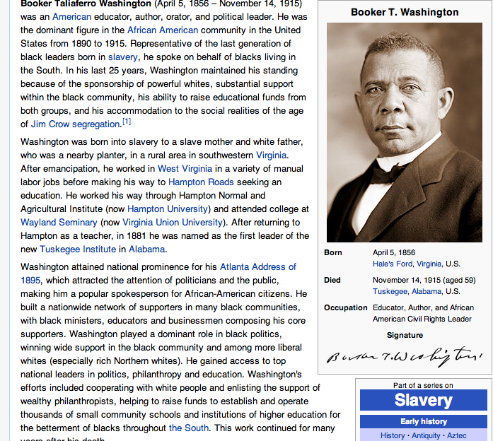 booker t washington biographie