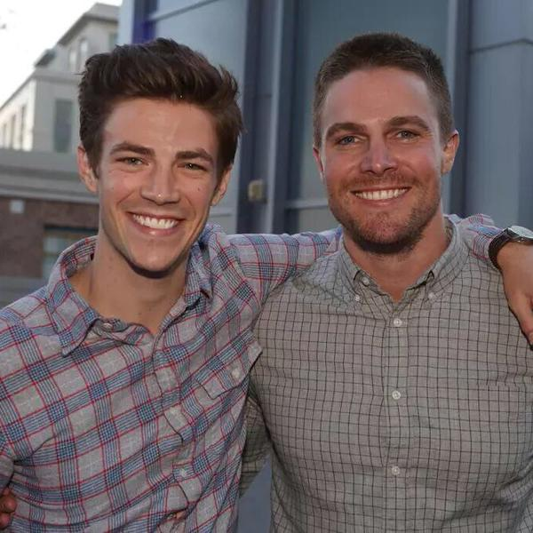 Grant Gustin Stephen Amell Flash Arrow