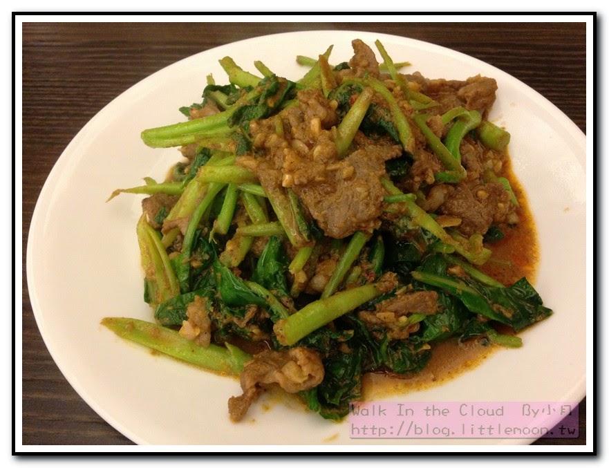 芥藍炒羊肉 (100元)