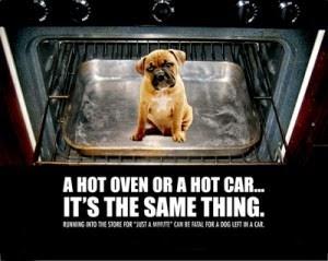 A hot OVEN = A hot CAR