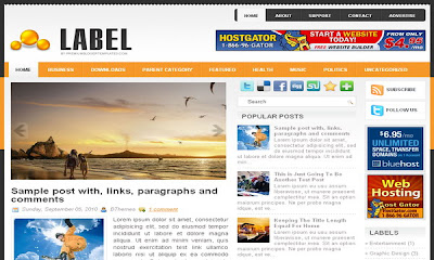 Label Blogger Templates