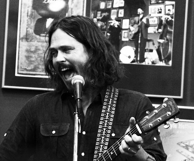 The Civil Wars John Paul White during an in-store Denver concert at Twist & Shout Records.