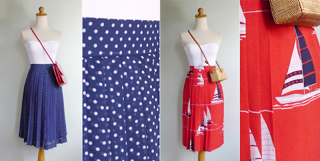 vintage novelty print sailboat skirt