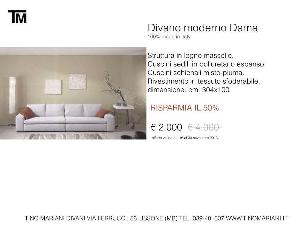 Divani in promozione Tino Mariani | Tino Mariani