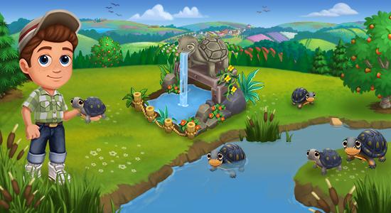 Pokrafarm farmville2 el estanque de tortugas for Estanque de tortugas