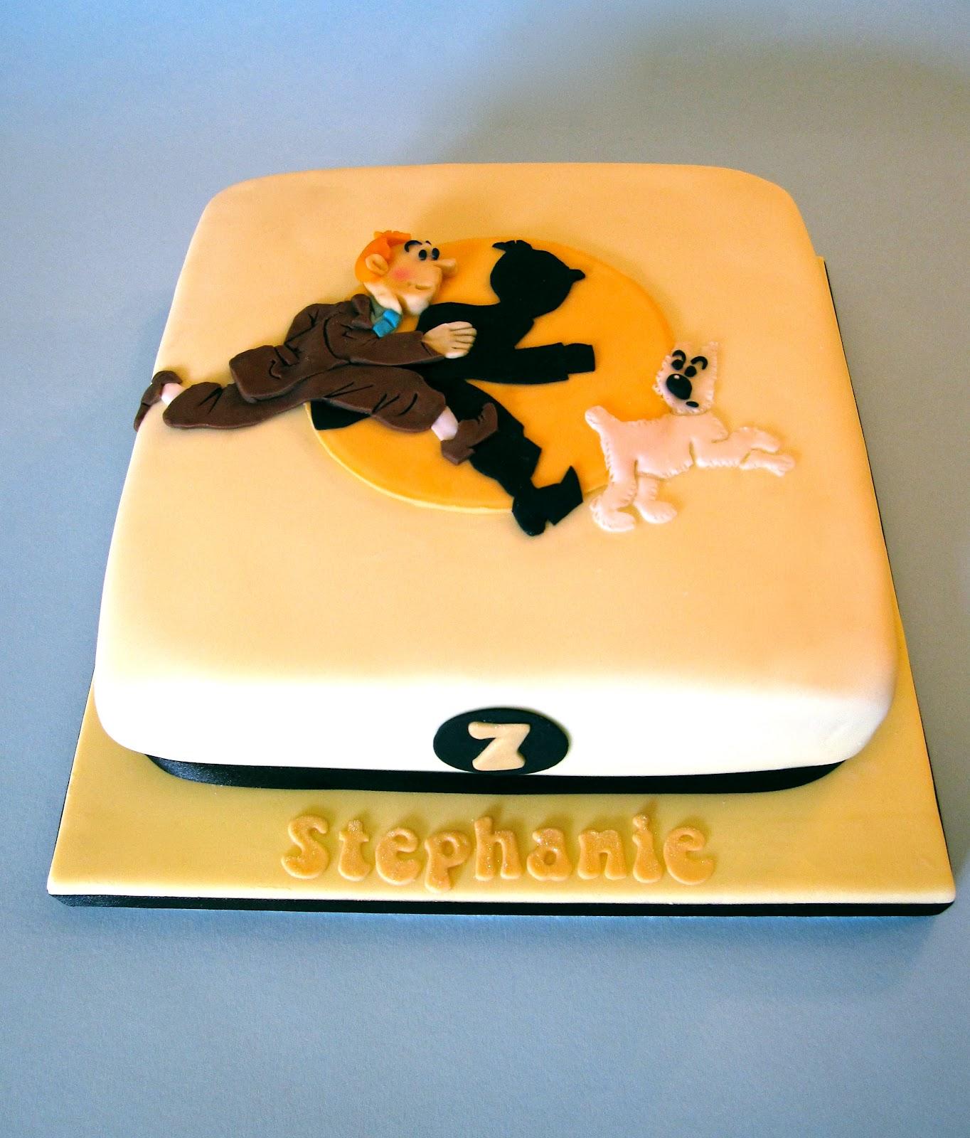 Decoration gateau tintin - Cake tolix ...