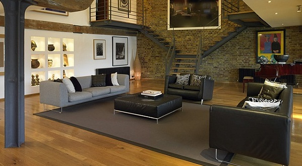 Home Decorating Ideas: Separate spaces in a loft without ...