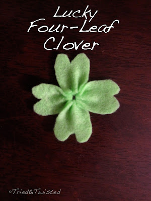 DIY St. Patty's Four-Leaf Clover via Tried & Twisted