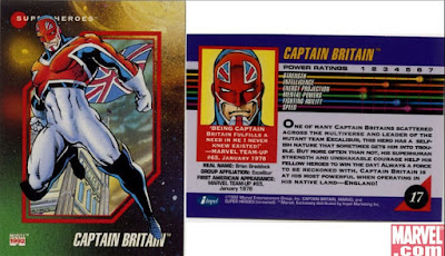 Marvel Card Series 3 1992 Captain Britain