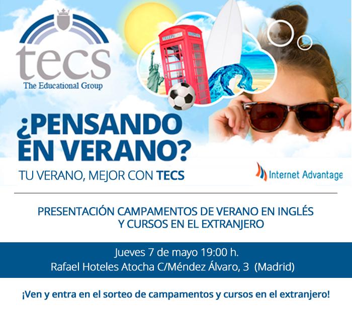 CURSOS Y CAMPAMENTOS DE VERANO DE INGLÉS, CON TECS