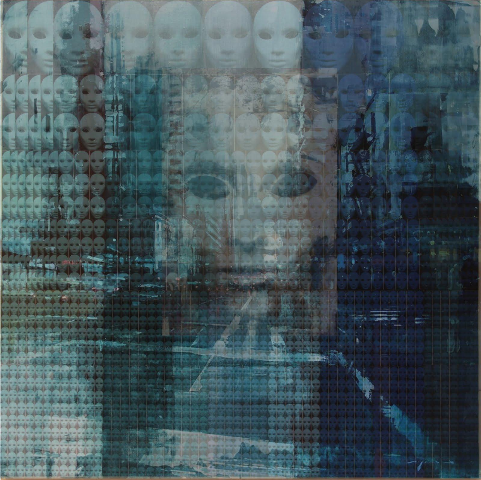 Solange Alves, Fractal 1: Todo Universo é Fractal, Colagem / Acrílica Sobre Madeira, 140X140 cm