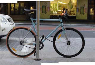Ph01, sulphuric acid, bicycle, the biketorialist, biketorialist, fixed speed, fixie, grey , frame, tim macauley, timothy macauley, model, frame, Sydney,  Australia, velocity, wheels, rims, brakes, orange, blue