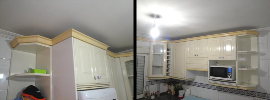 zoila juan tapar hueco superior armarios cocina
