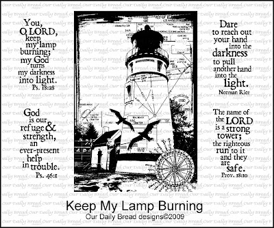 "Our Daily Bread designs ""Keep My Lamp Burning"""