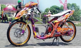 contoh Variasi Motor Mio Drag