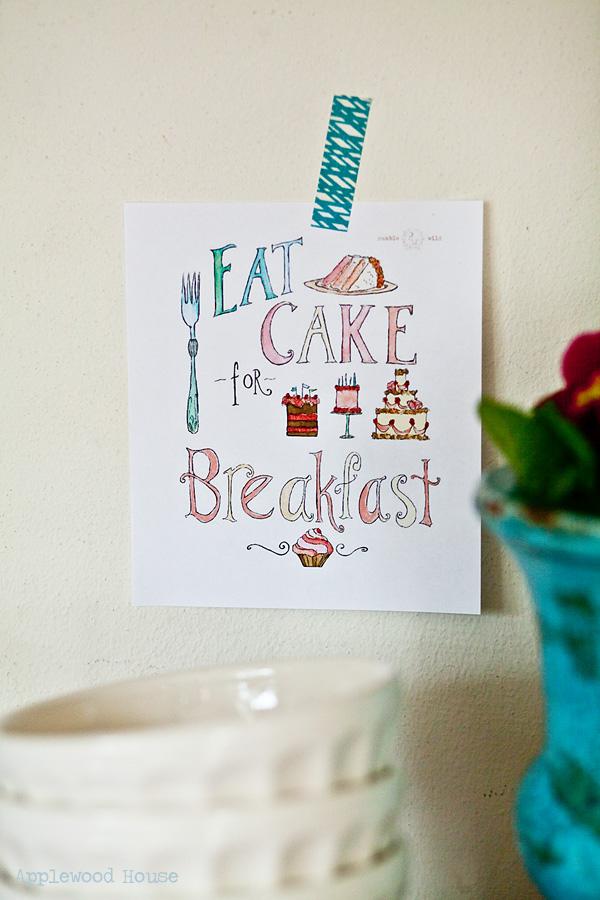 Cake Breakfast print