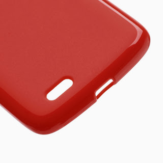 TPU Case with Matte Back Side for Lenovo S820 - Red