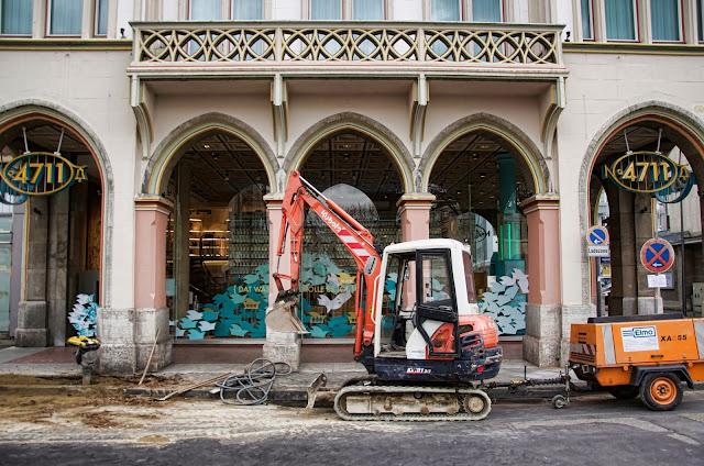 Baustelle Köln, Vor dem 4711-Haus, Glockengasse 4, 50667 Köln, 27.01.2014