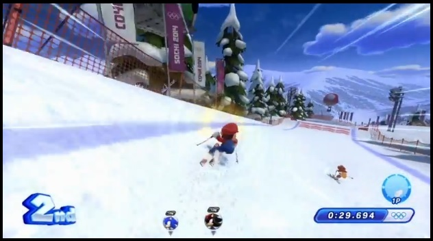 Skiing in Mario & Sonic at the Sochi 2014 Olympic Games