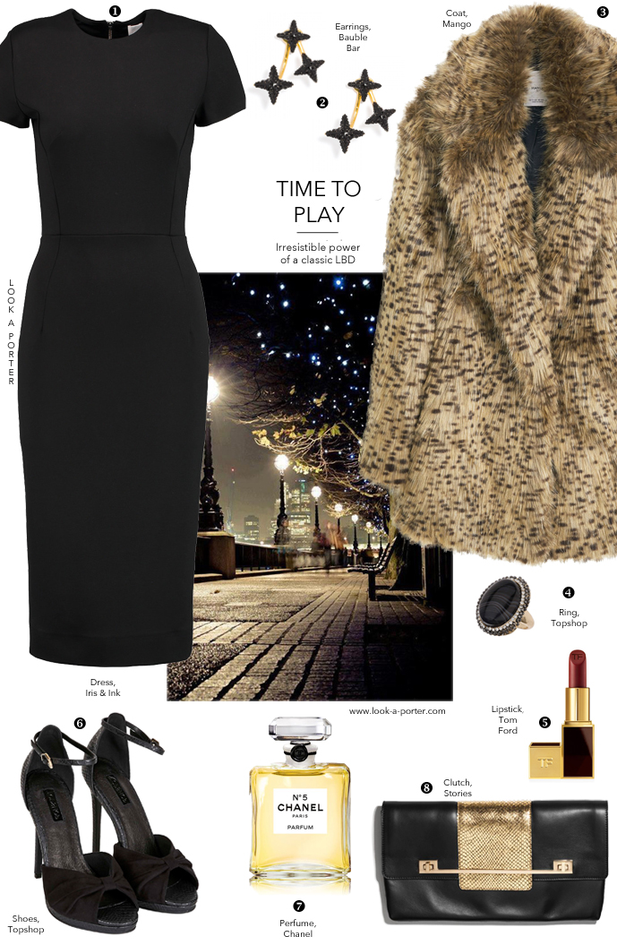 Another way to style a little black dress for a party via www.look-a-porter.com style & fashion blog