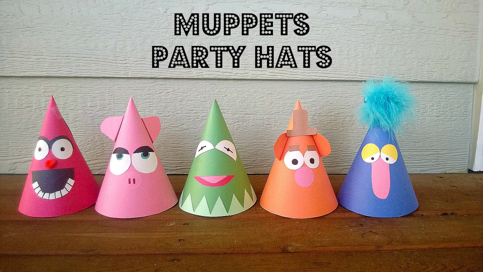muppets party hats tutorial little birdie secrets