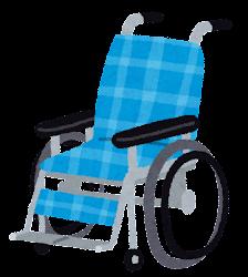車椅子のイラスト「青」