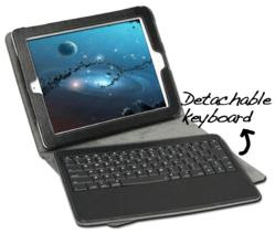 GreatShield 2!GO Detachable Wireless Bluetooth Keyboard Leather Case