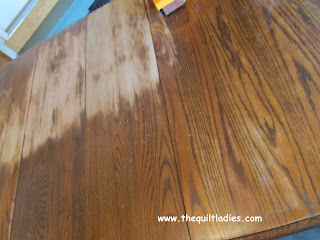 Sand and Stain a Dining Room Table