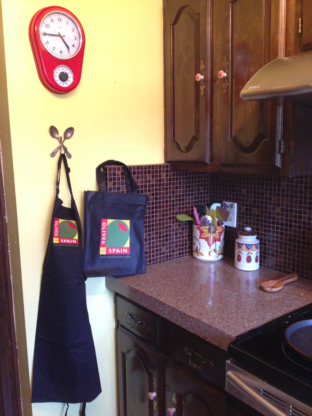 Olives From Spain Apron and Tote Bag