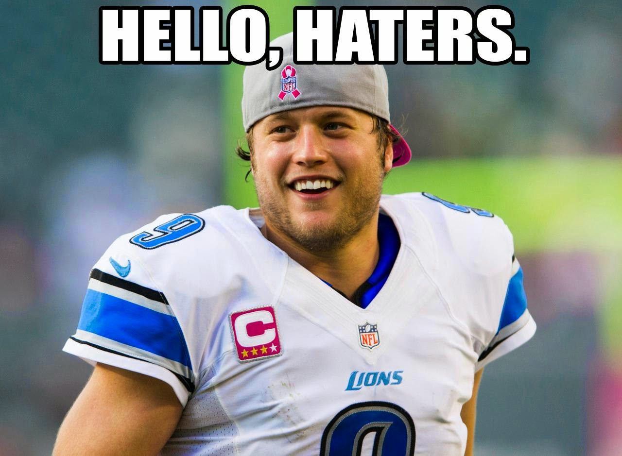 hello, haters.  - #LionsHaters #DetroitLions