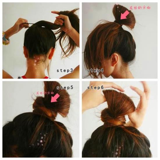 kalian juga bisa mencoba gaya rambut cepol yang seperti ini